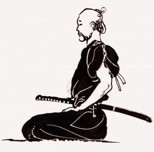 samurai meditating